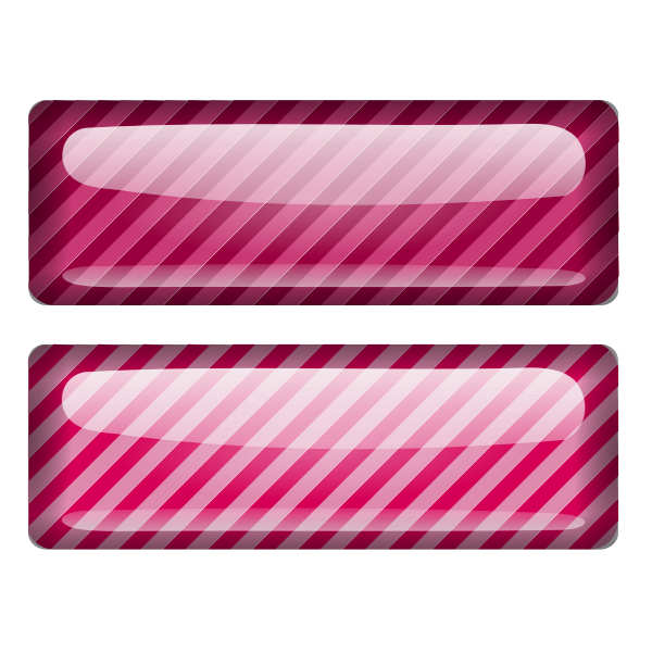 Two stripped pink squares vector drawing