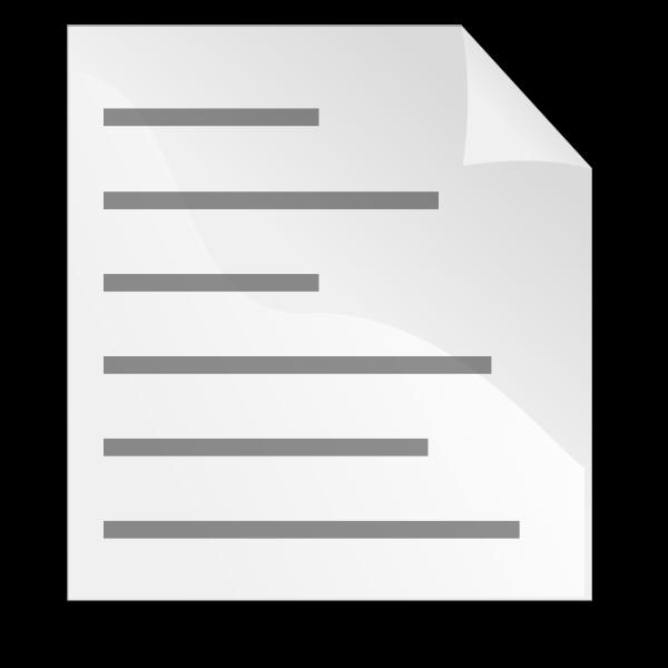 Text page icon vector clip art