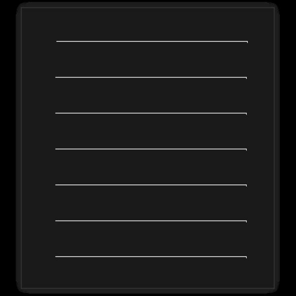 Monochrome text file icon vector graphics