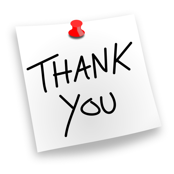 Thank You note vector drawing