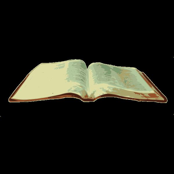 Open religious book vector illustration