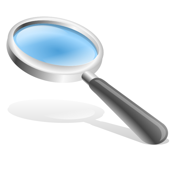 Black magnifying glass vector image