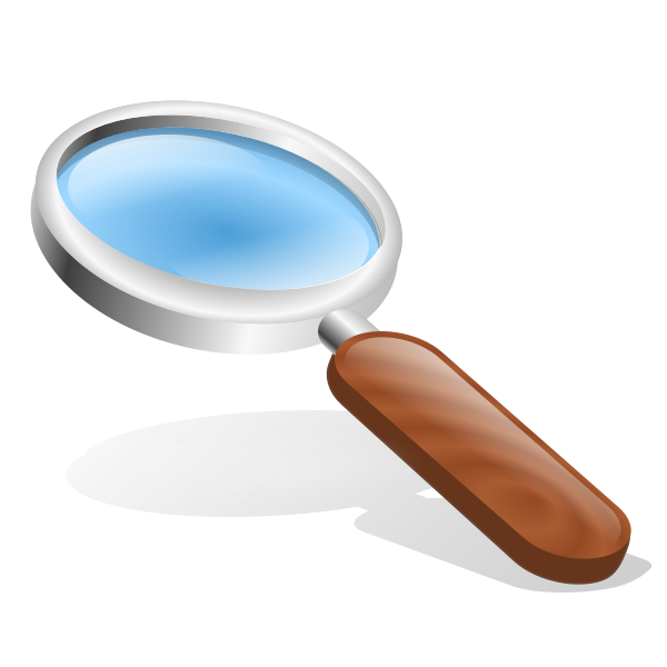 Brown magnifying glass vector image