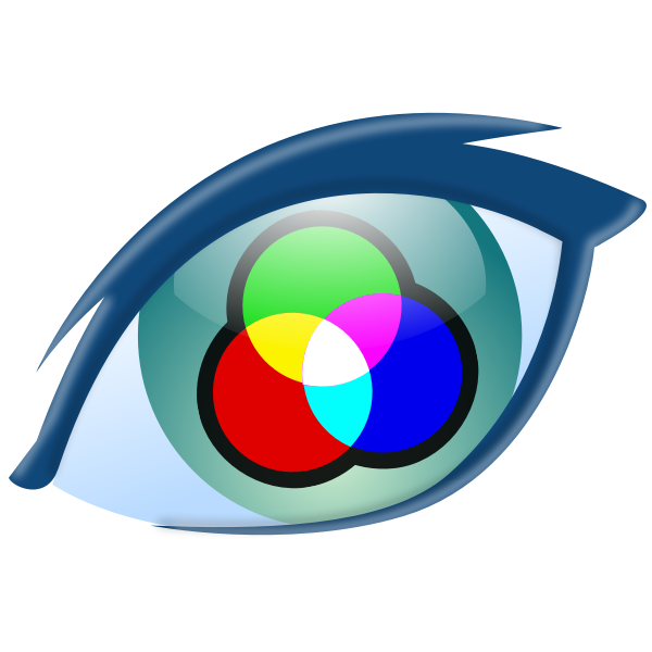 Vector graphics of multi color sign icon