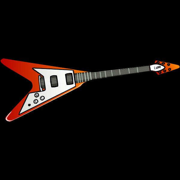 Flying V guitar vector