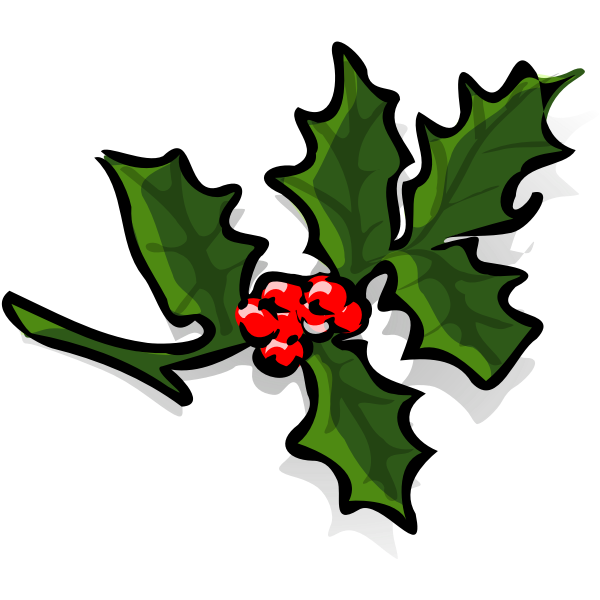 Holly branch vector art