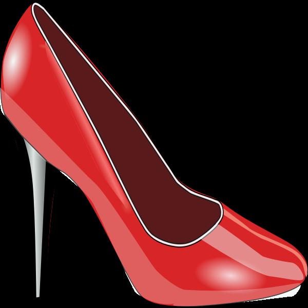 Red high-heel shoe vector image