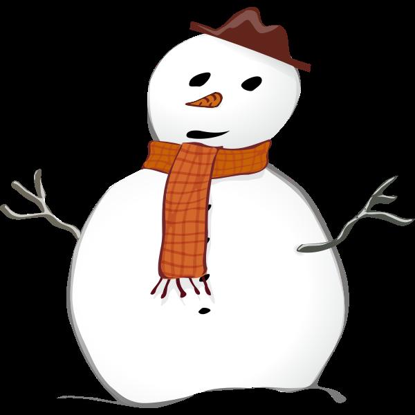 Snowman graphics vector