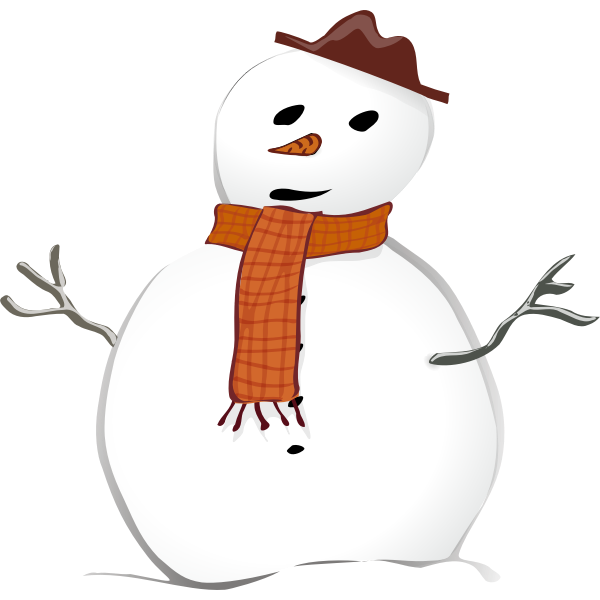 Snowman graphics vector