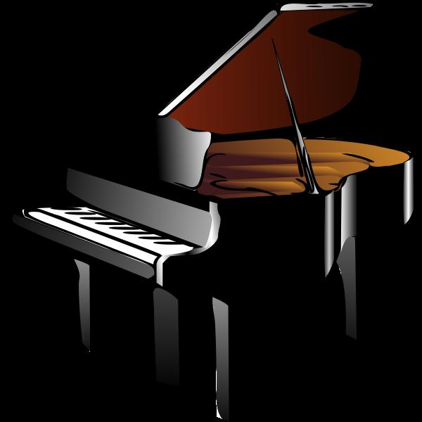 Piano vector drawing