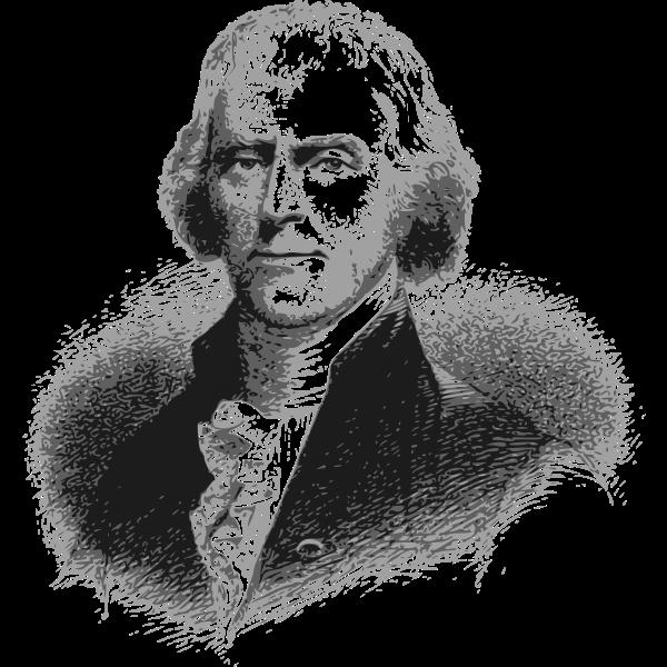 Thomas Jefferson portrait vector illustration