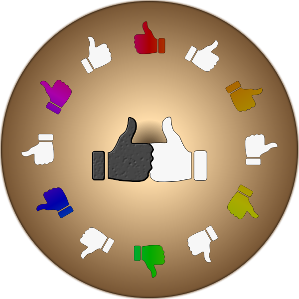 Thumbs up in a circle