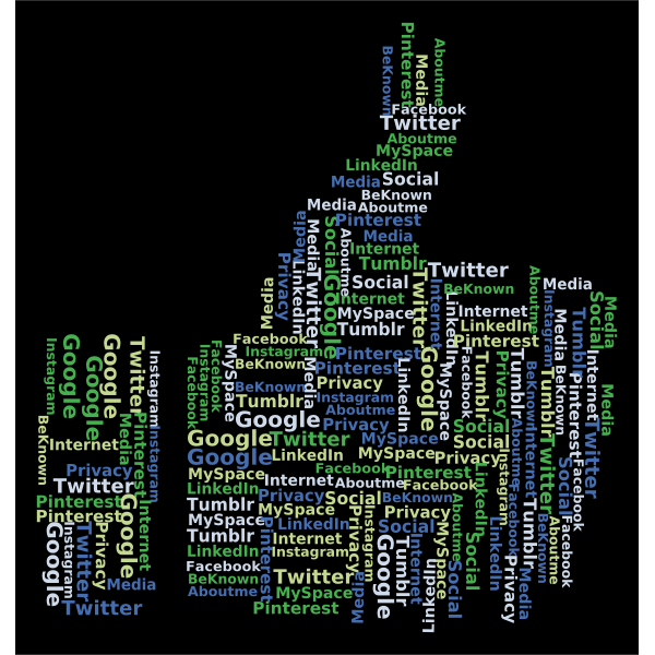 Thumbs Up Social Media Word Cloud