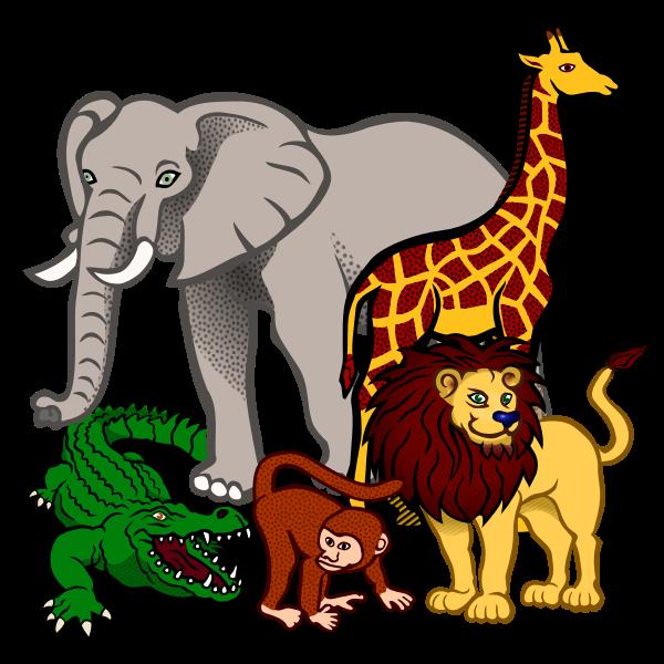 African animals vector illustration