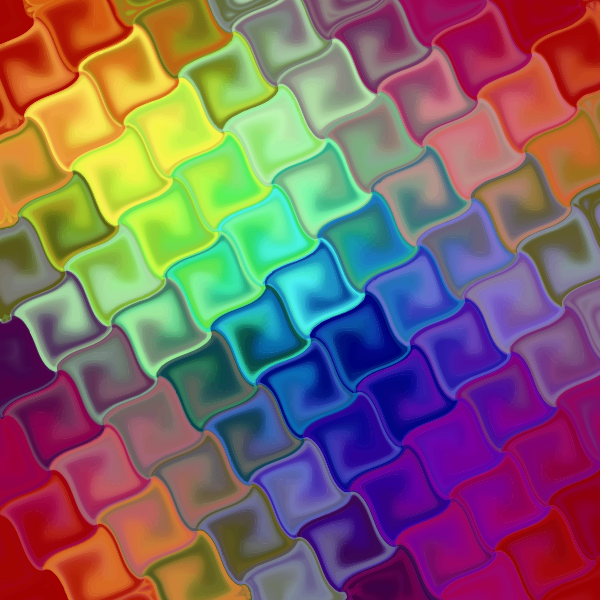 Tile pattern in rainbow colors