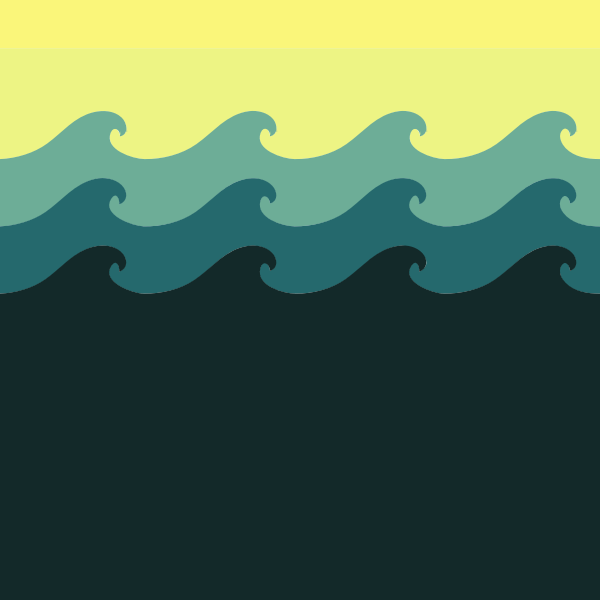 Tiled sea wave pattern vector image