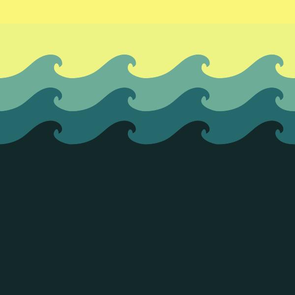 Tiled sea wave pattern vector image
