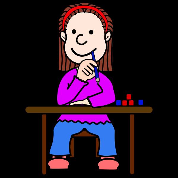 Female student in school | Free SVG (600 x 600 Pixel)