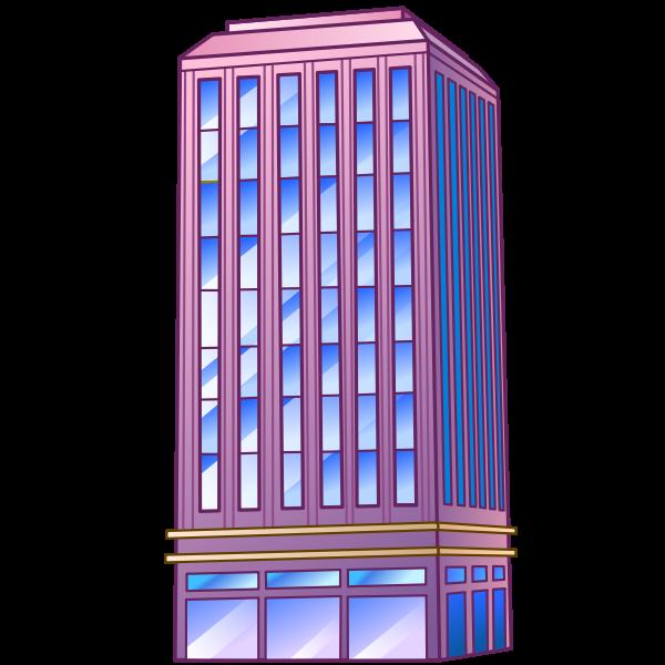 building  skyscraper blue and purple