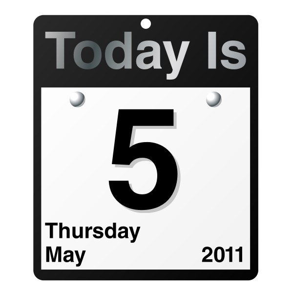 """Today Is"" calendar"