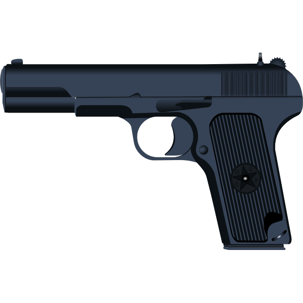 Tokarev TT-33 pistol vector drawing