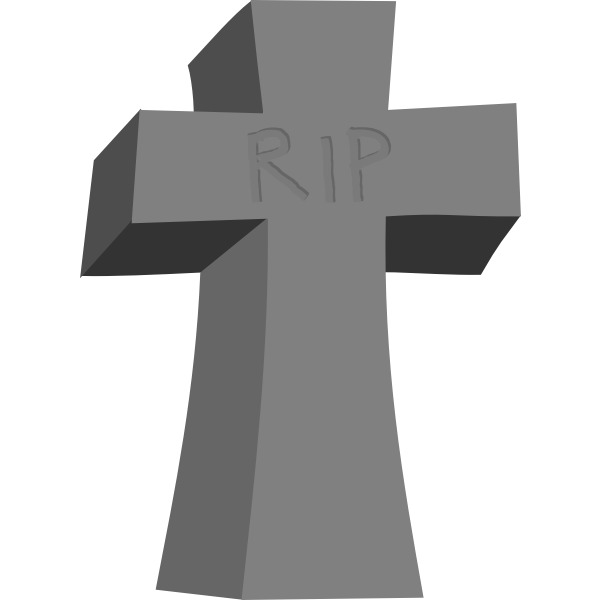 Vector clip art of Halloween gravestone