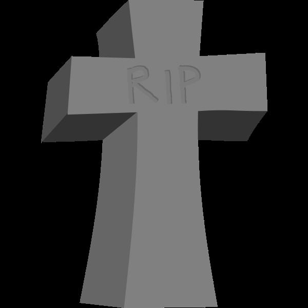 Vector clip art of Halloween gravestone