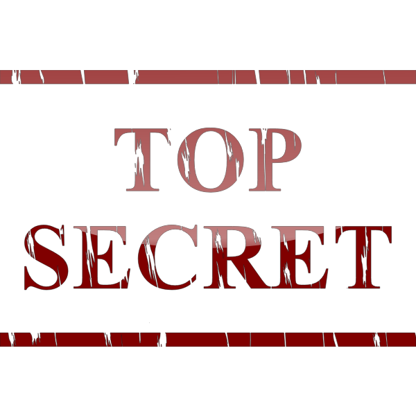 Top Secret sticker vector illustration