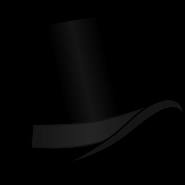 Top hat Black   Free SVG