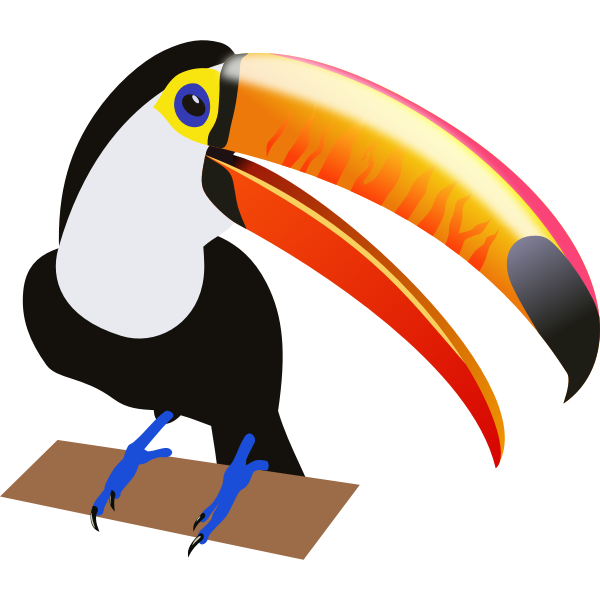 Drawing of a tropical bird