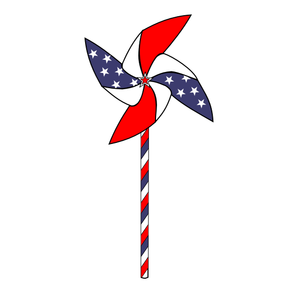 4th July Pinwheel Animation
