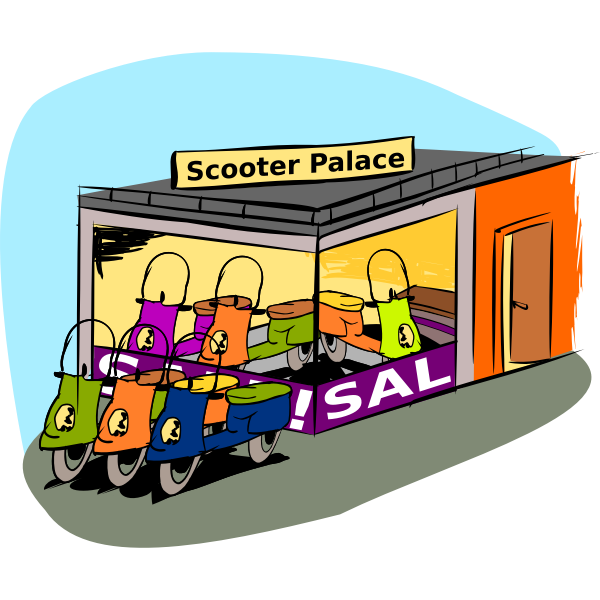 Scooter shop vector