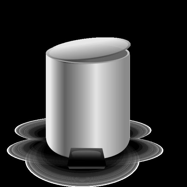 Empty trash can vector image