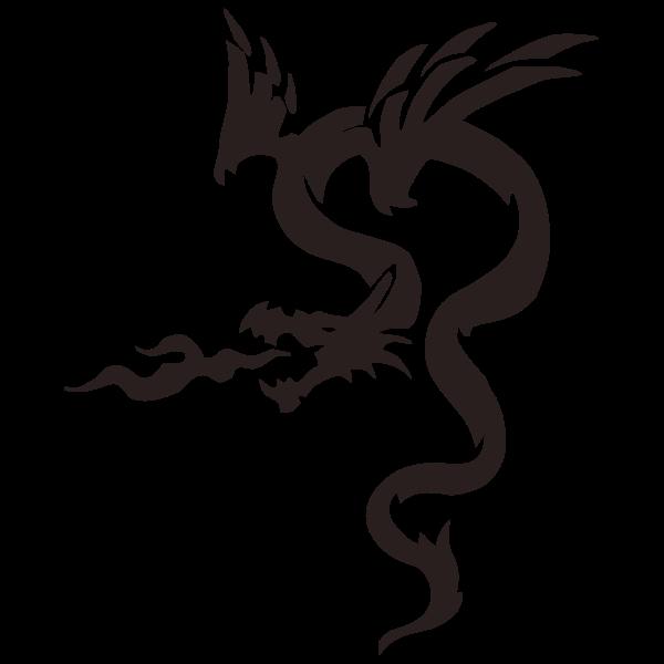 Dragon and flame