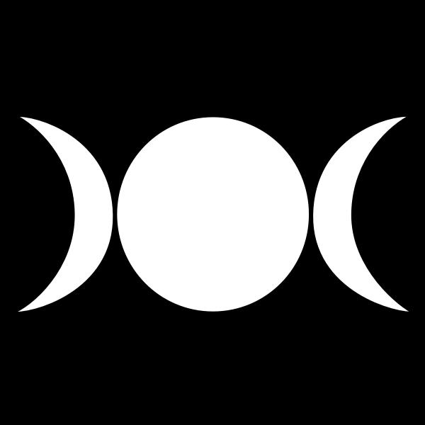 Wiccan symbol line art vector graphics