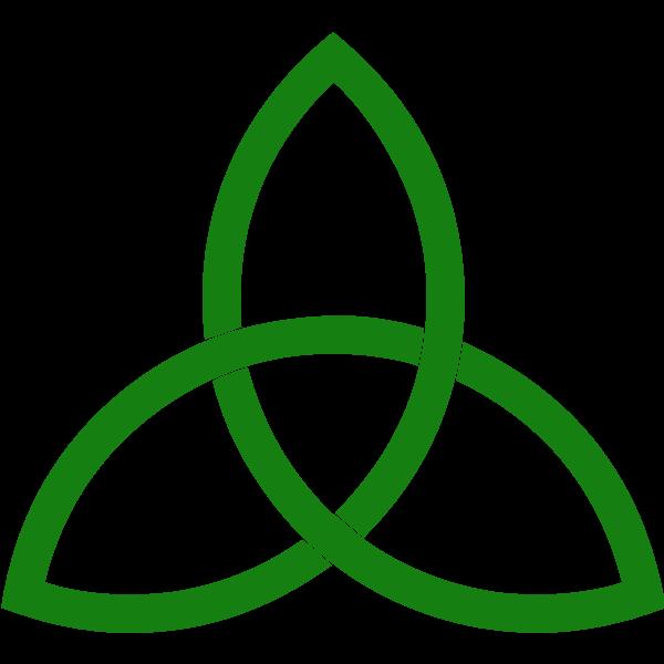 Green line triquetra vector clip art