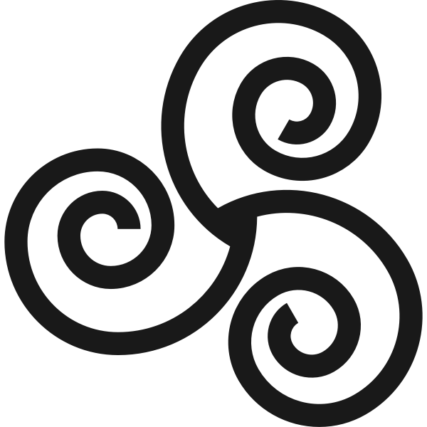 Thick line Triskelion drawing
