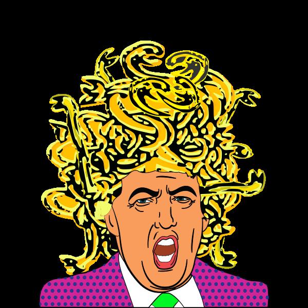Trump Medusa Evil path