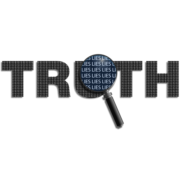 Truth with magnifier