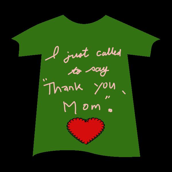 Green shirt with heart