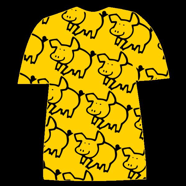 Pig-pattern T-shirt
