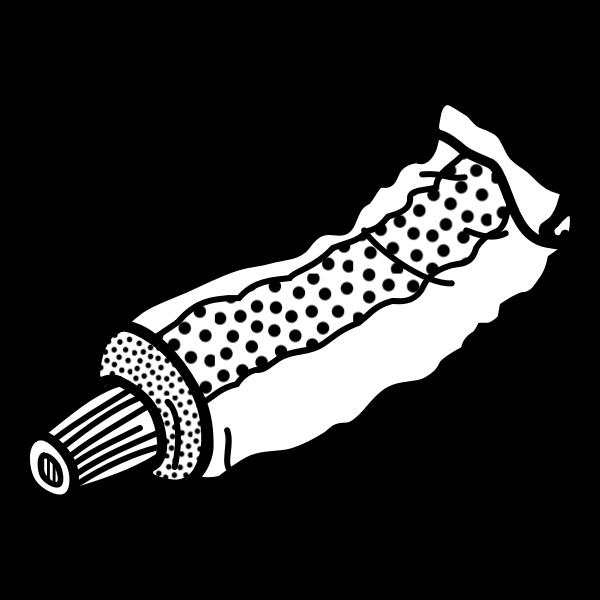 Tube line art vector clip art