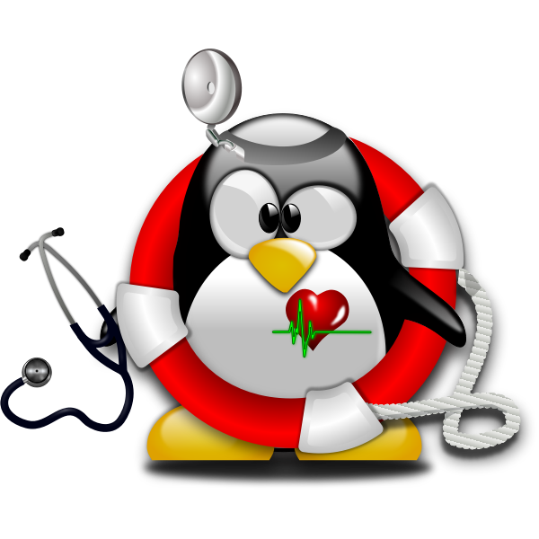 Tux emergency paramedic vector illustration