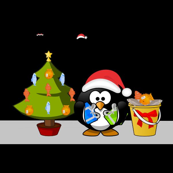 Tux Weihnachtskarte 2014 pfad