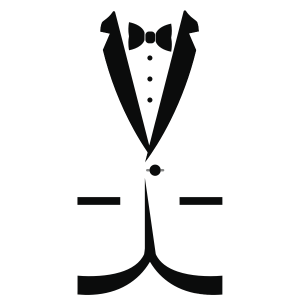 Tuxedo silhouette