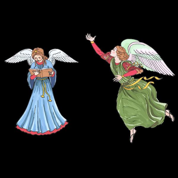 Two female angels