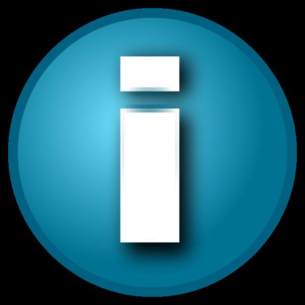 Small blue 'i' info button
