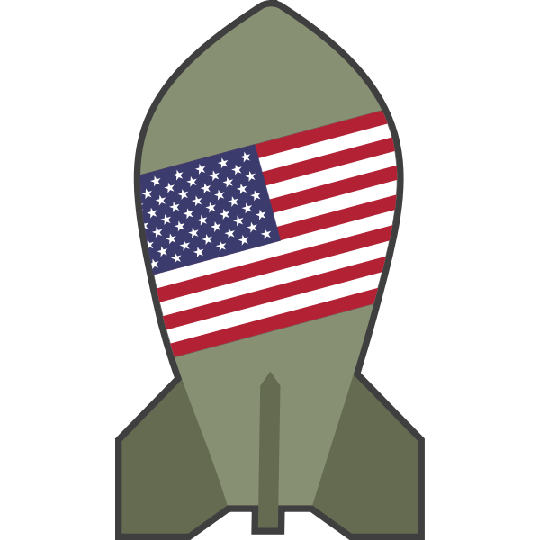 Vector illustration of hypothetical American nuclear bomb