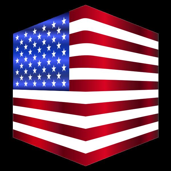 USA Flag Cube