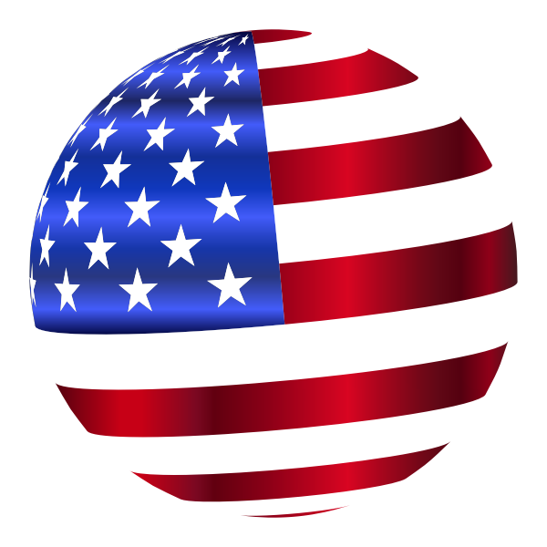 USA Flag Sphere Enhanced